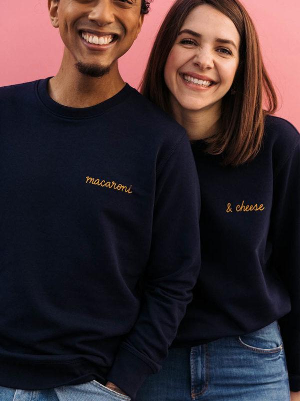 Sweatshirt Bleu Brodé & Custom