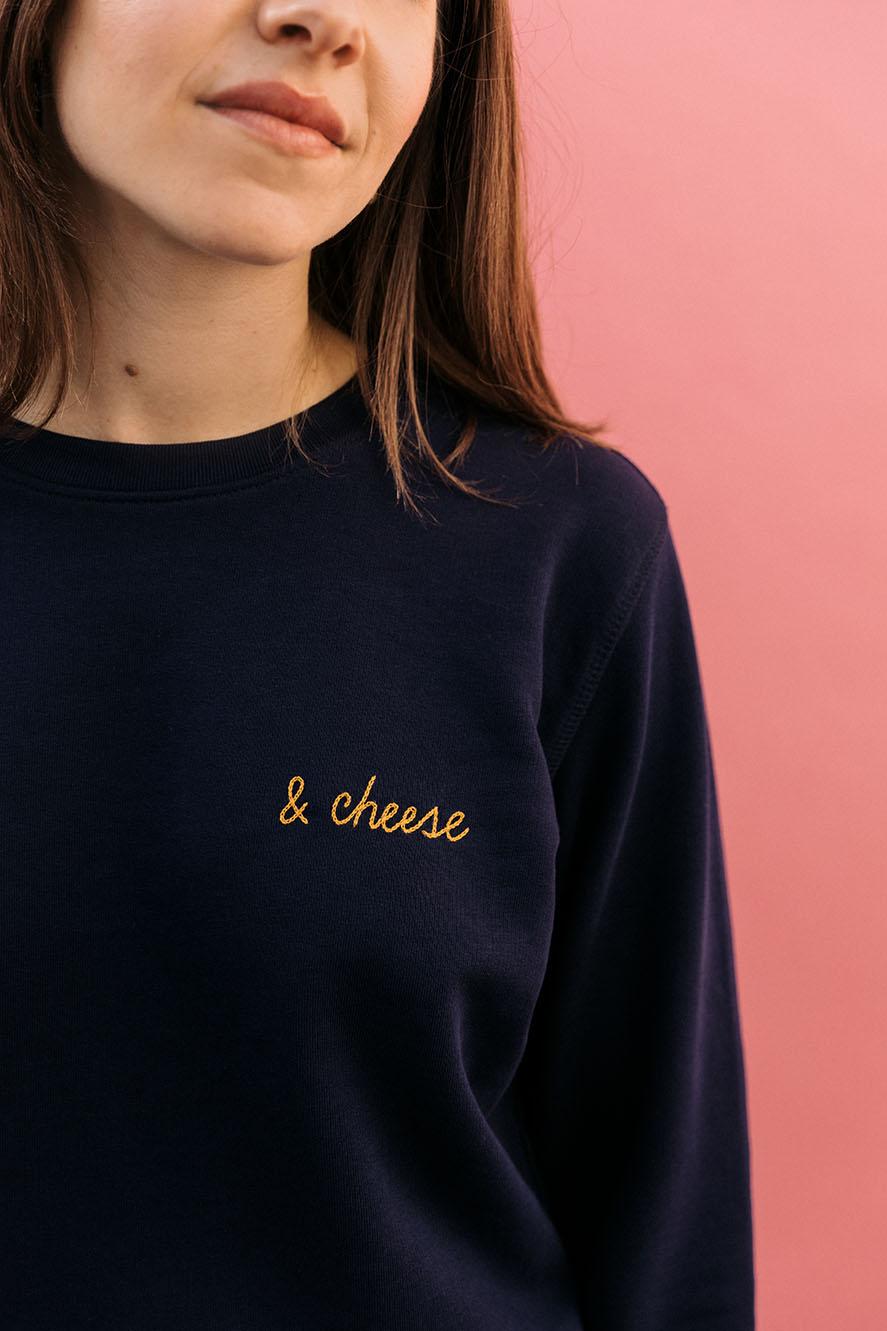 sweatshirt femme brodé personnalisé