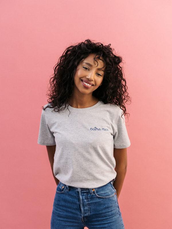T-shirt Gris Brodé & Custom