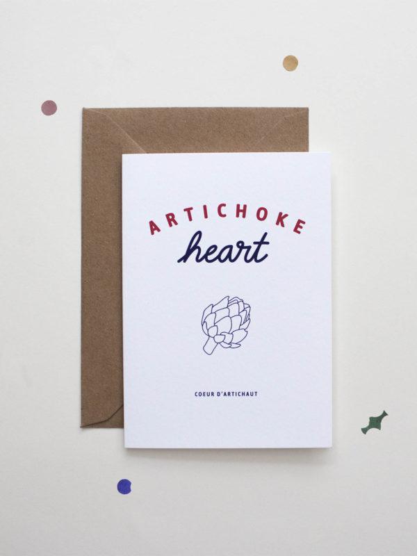 Carte Artichoke Heart