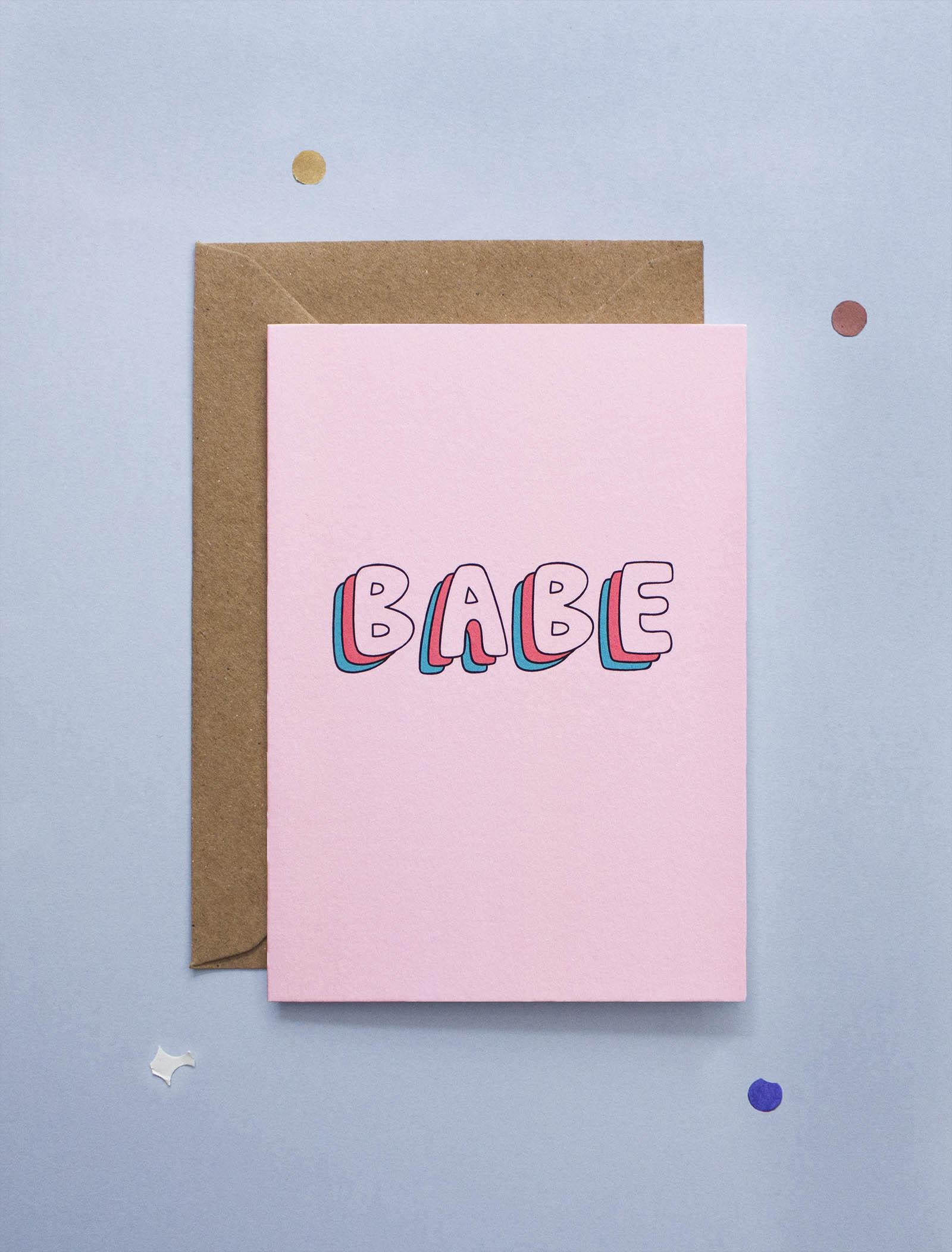 carte de voeux Babe