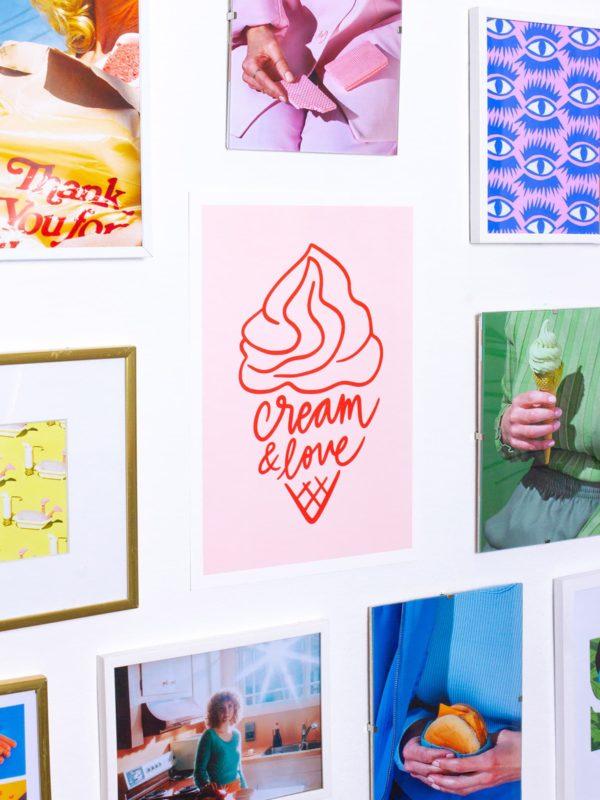Affiche A4 Cream & Love