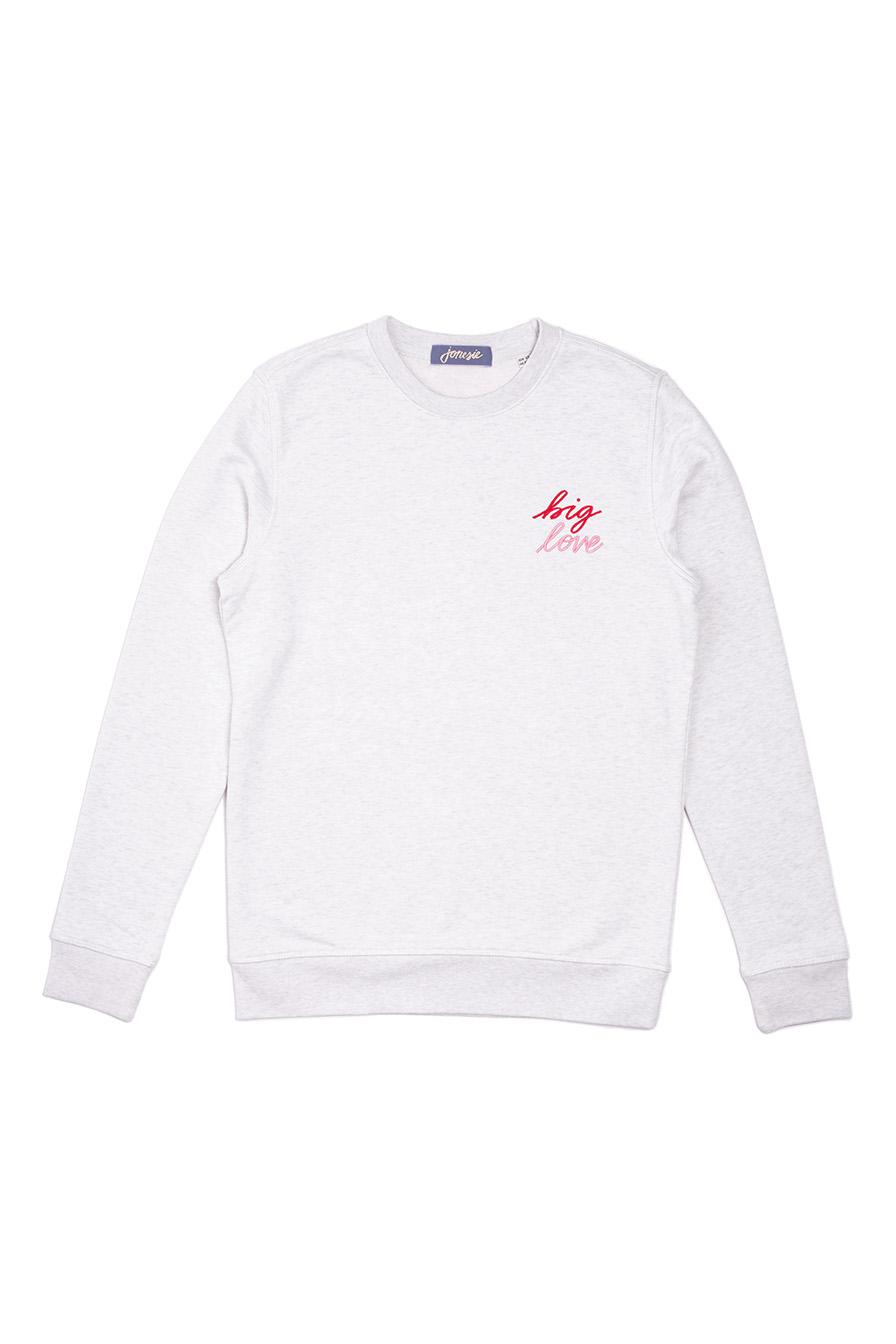 sweatshirt brodé coton bio