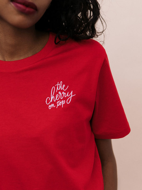 T-shirt Brodé The Cherry On Top