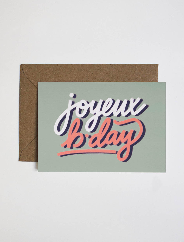 Carte anniversaire jonesie