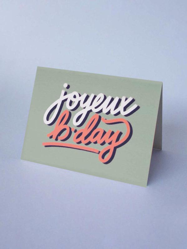 Carte Joyeux B*day