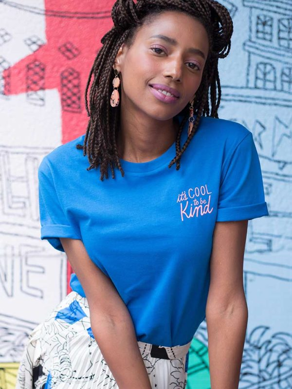 T-shirt Brodé It's Cool To Be Kind