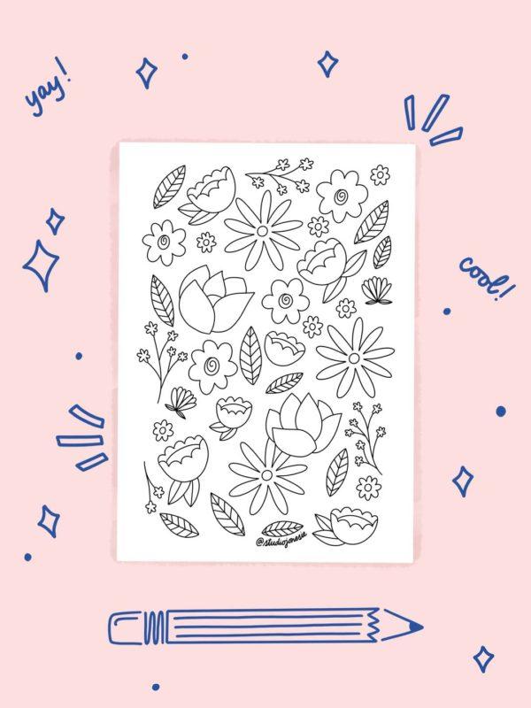 Feuille de Coloriage – Fleurs