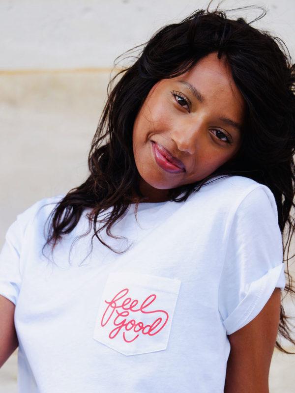 T-shirt à Poche Feel Good