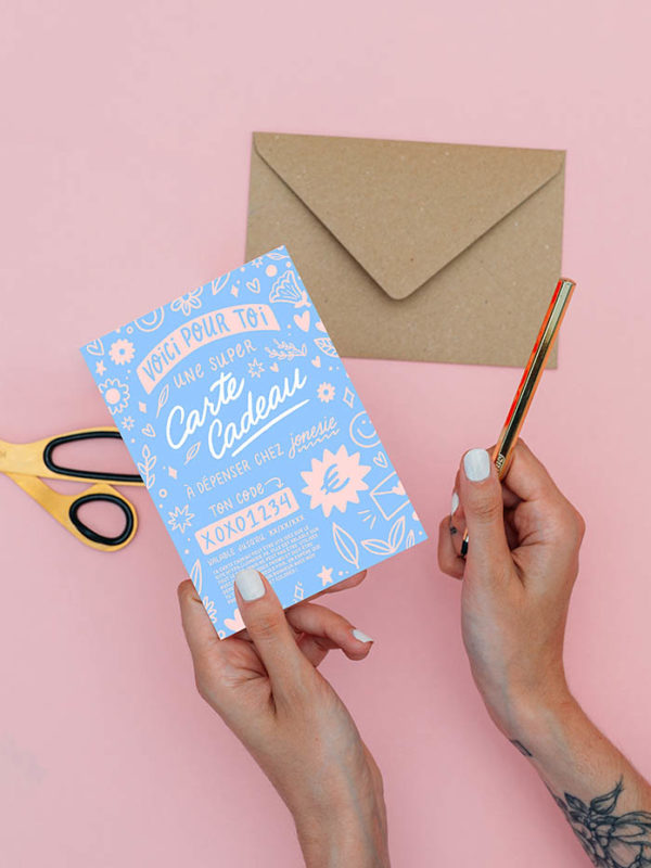 Carte Cadeau (Version Bleu)